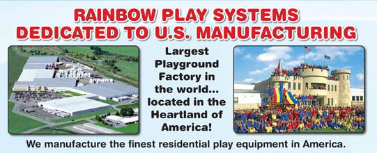 We manufacture the finest residential play equipment